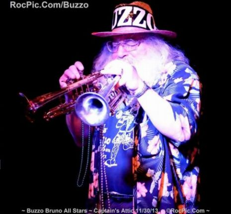 Buzzo Bruno 2 Trumpets ~ Mustang Sally ~ Captains Attic Rochester NY November 30th 2013