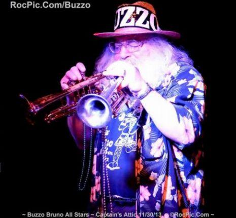 Buzzo Bruno 2 Trumpets ~ Mustang Sally ~ Captains Attic Rochester NY November 30th 2013