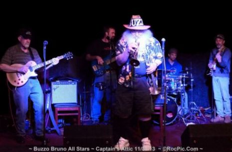 The Buzzo Bruno All Stars debut performance at the Captain's Attic 37 Charlotte Street Rochester NY