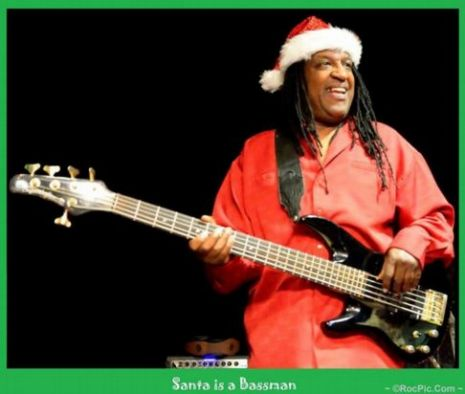 Santa is a Bassman - Mitty Moore Captains Attic Rochester NY December 2013